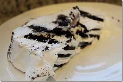 Whip Cream Cake made with Chocolate Wafers, Whip Cream, Homemade Vanilla