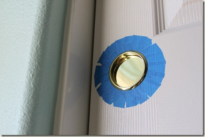 Brass Closet Door Hardware, Circular Tape for Painting