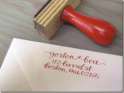 Return address stamp from etsy