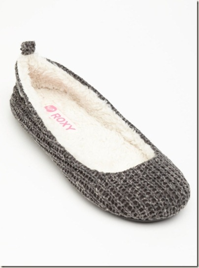 Roxy Hot Cocoa Grey Slippers