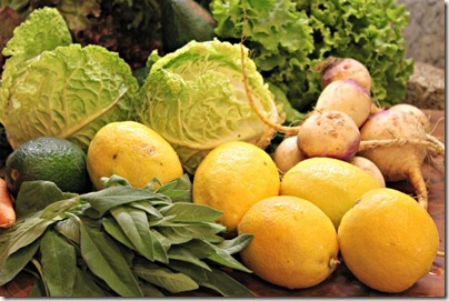 Lemons, Sage, Turnips, Cabbage