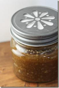Body Scrub Mason Jar Daisy Lid