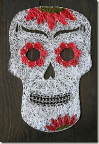 Sugar Skull String Art - Day of the Dead