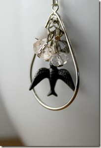 Sparrow Peach Teardrop Earrings