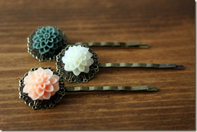 Vintage Dahlia Lace Bobby Pins